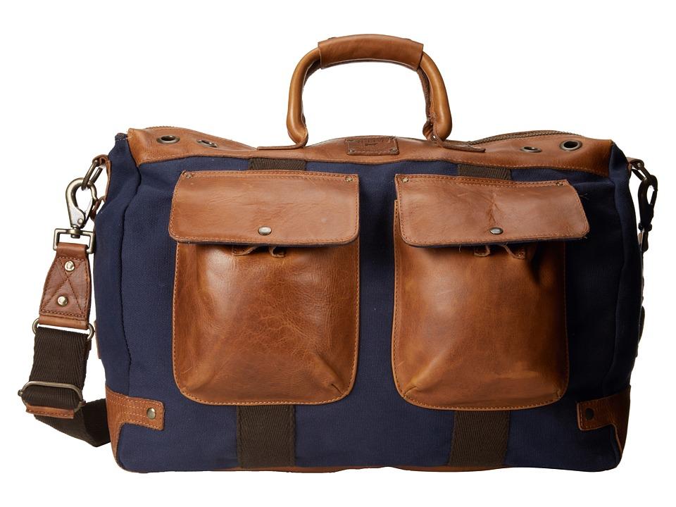 Will Leather Goods - Traveler Duffle (Navy/Tan) Duffel Bags