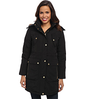 Cole Haan - Taffeta Down Parka w/ Removable Hood Faux Fur Trim