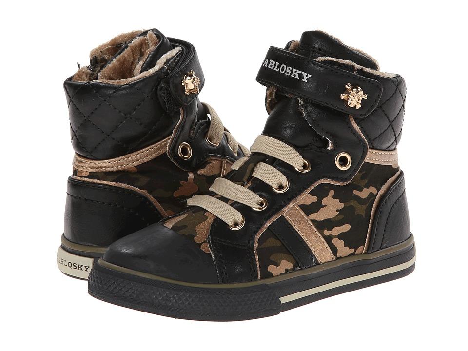 Pablosky Kids 921410 Toddler/Little Kid/Big Kid Black Camouflage Girls Shoes