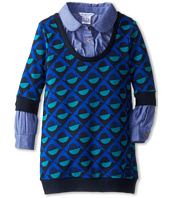 Little Marc Jacobs - Printed Knit Dress w/ Chambray Layer (Toddler/Little Kids)