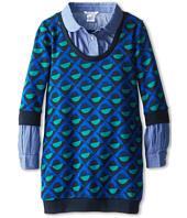 Little Marc Jacobs - Printed Knit Dress w/ Chambray Layer (Little Kids/Big Kids)