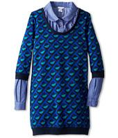 Little Marc Jacobs - Printed Knit Dress w/ Chambray Layer (Big Kids)