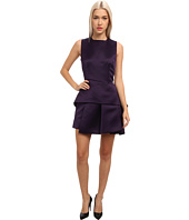 McQ - Double Face Duch Peplum Dress D