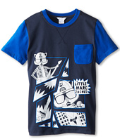 Little Marc Jacobs - S/S Colorblock Tee w/ Print And Pocket (Big Kids)