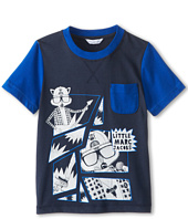 Little Marc Jacobs - S/S Colorblock Tee w/ Print And Pocket (Little Kids/Big Kids)