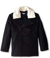 Little Marc Jacobs - Peacoat w/ Removable Collar (Little Kids/Big Kids)