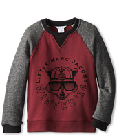 Little Marc Jacobs - Printed Bicolor Raglan Sweatshirt (Little Kids/Big Kids)