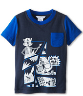 Little Marc Jacobs - S/S Colorblock Tee w/ Print And Pocket (Toddler/Little Kids)