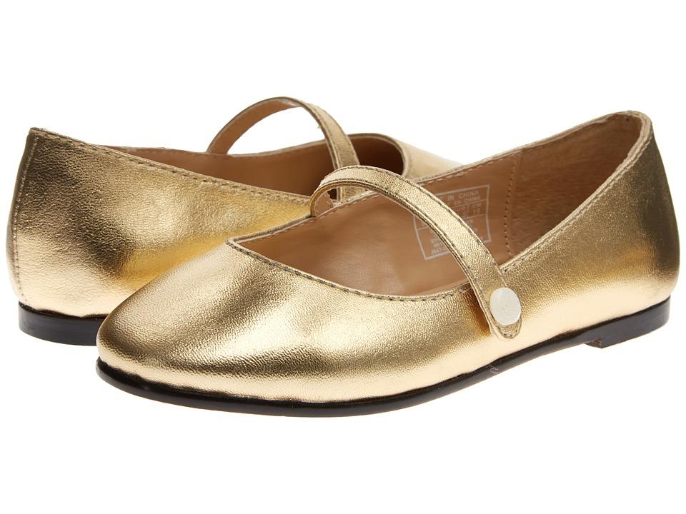 Polo Ralph Lauren Kids Alyssa Toddler Gold Leather Girls Shoes