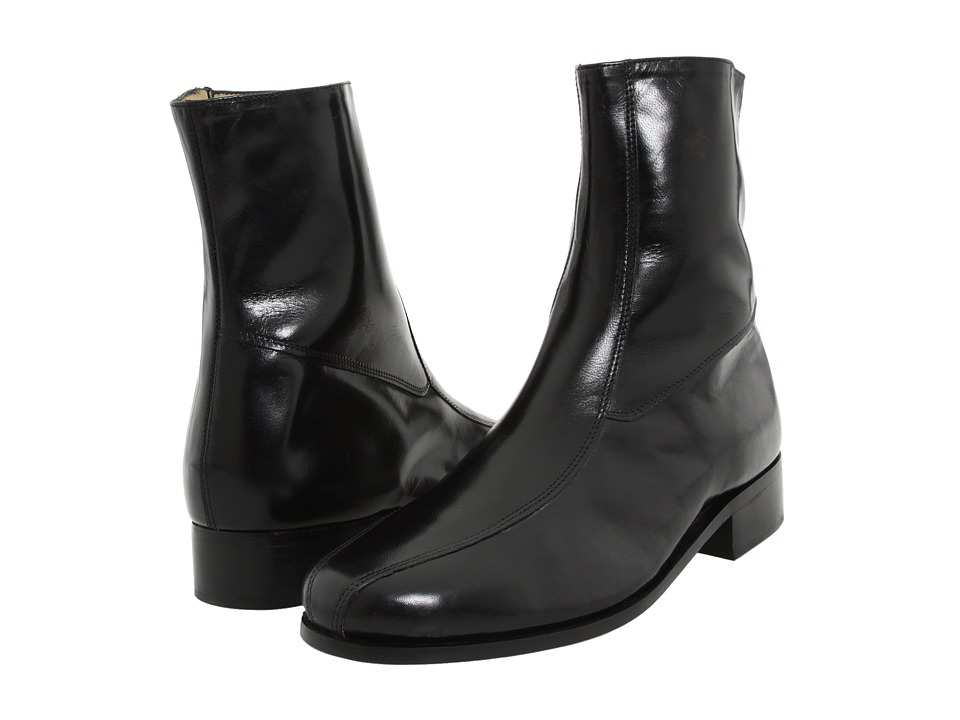 1960s Style Men's Clothing, 70s Men's Fashion Nunn Bush - Bristol Side Zip Ankle Boot Black Mens Boots $67.95 AT vintagedancer.com