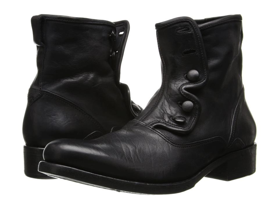 John Varvatos - Bowery Button Boot (Black) Men