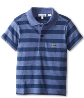Lacoste Kids - S/S Striped Jersey Polo (Toddler/Little Kids/Big Kids)