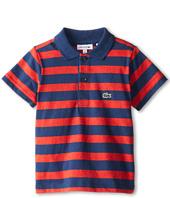 Lacoste Kids - S/S Striped Jersey Polo (Toddler/Little Kids/Big Kids)