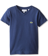Lacoste Kids - S/S Classic Jersey V-Neck Tee (Toddler/Little Kids/Big Kids)