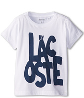 Lacoste Kids - S/S Lacoste Graphic Tee (Toddler/Little Kids/Big Kids)