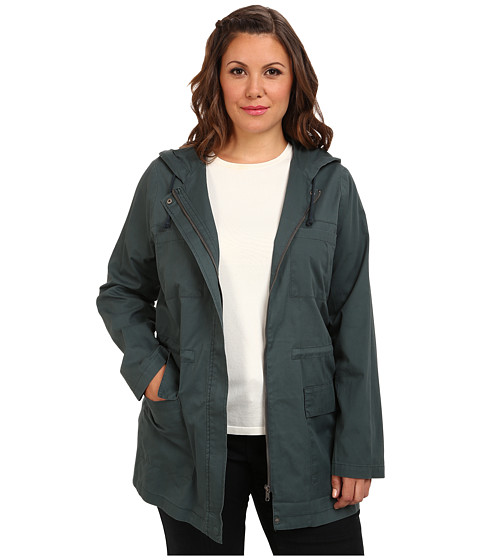 BB Dakota Plus Size Dayen Jacket (Dark Slate) Women's Jacket