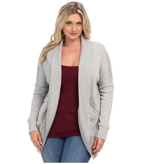 BB Dakota Plus Size Hodges Sweater (Light Heather Grey) Women's Sweater