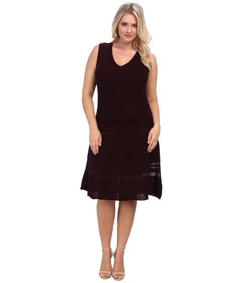 BB Dakota - Plus Size Yuma Dress (Aubergine) - Apparel