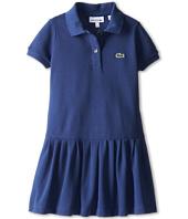 Lacoste Kids - S/S Drop Waist Pique Polo Dress (Toddler/Little Kids/Big Kids)
