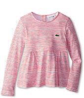 Lacoste Kids - Striped L/S Heavy Jersey Tee (Toddler/Little Kids/Big Kids)