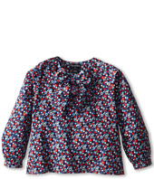 Oscar de la Renta Childrenswear - Colares Cotton Bow Blouse (Toddler/Little Kids/Big Kids)
