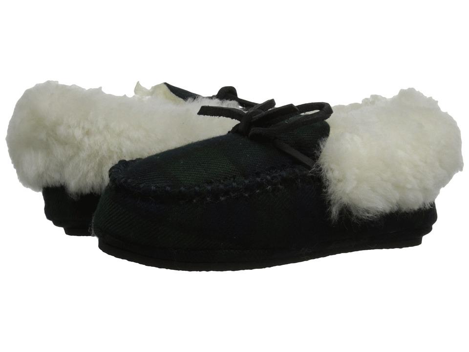 Polo Ralph Lauren Kids Allister Toddler Blackwatch Plaid w/ Genuine Cream Shearling amp Cream Pony Player Kids Shoes