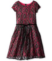 Us Angels - S/S Lace Tuck Waist Dress (Big Kids)