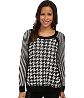 TWO by Vince Camuto - Jacquard Houndstooth Sweater