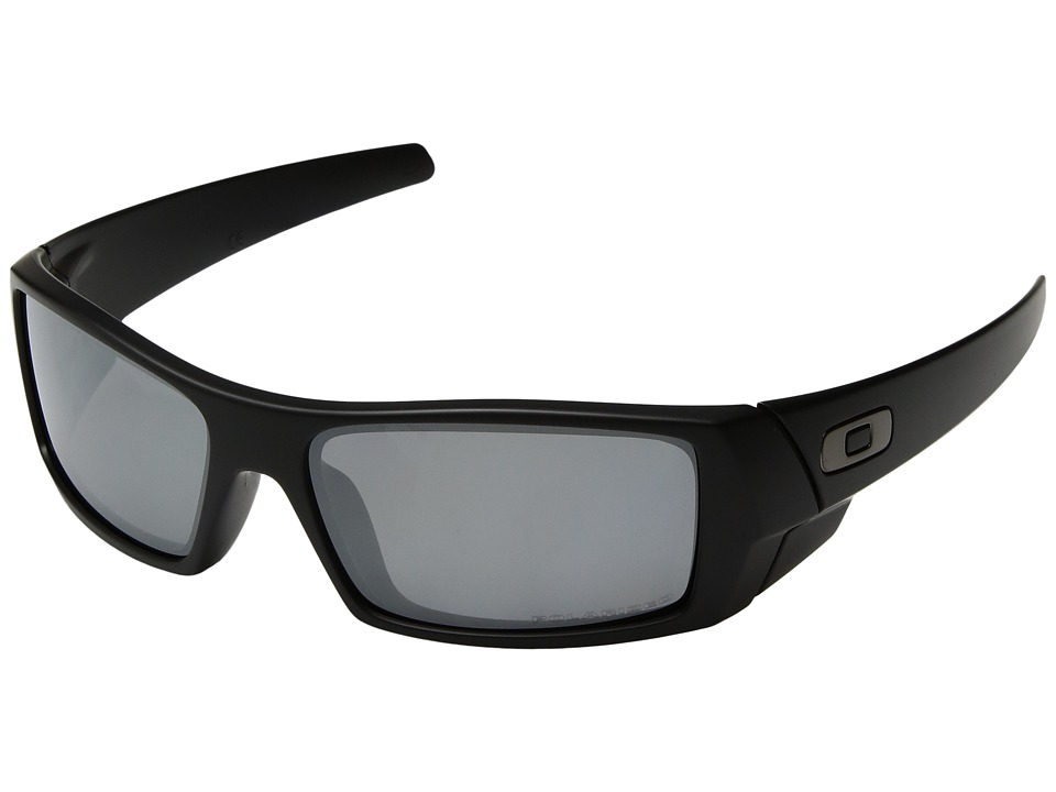 Oakley - GasCan(r) Polarized (Matte Black/Black Iridium Polarized) Sport Sunglasses