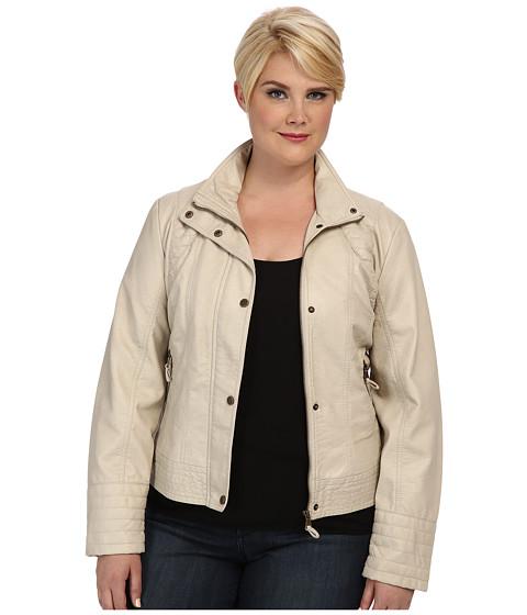 Jessica Simpson Plus Size JOFWU193 Jacket (Stone) Women's Jacket