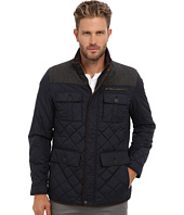 Vince Camuto - Quilted Nylon Jacket With Plaid & Corduroy Details