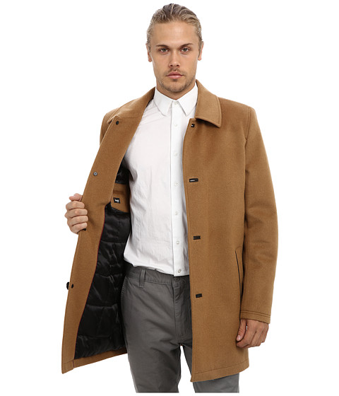 Vince Camuto Storm System Wool Melton Carcoat at 6pm.com