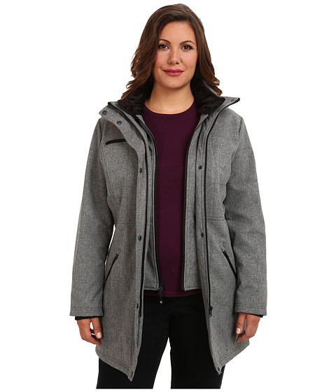 Jessica Simpson Plus Size JOFWP116 Coat (Heather Gray) Women's Coat