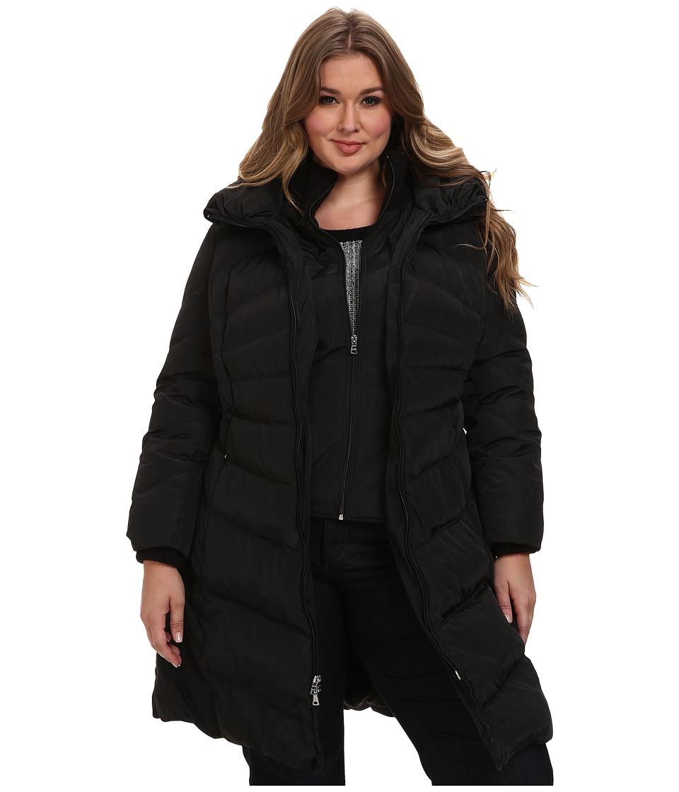 Jessica Simpson Plus Size JOFWD007 Coat (Black) Women