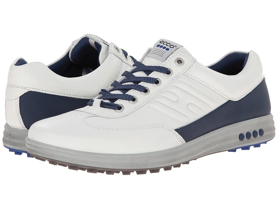 ECCO Golf - Street EVO One (White/Royal) Men's Golf Shoes