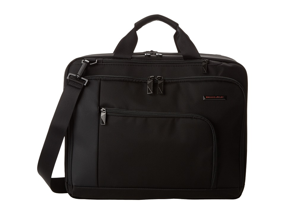 Briggs & Riley - Verb Connect Medium Brief (Black) Briefcase Bags