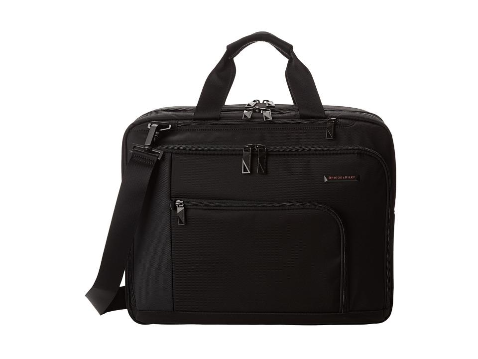 Briggs & Riley - Verb Adapt Expandable Brief (Black) Briefcase Bags