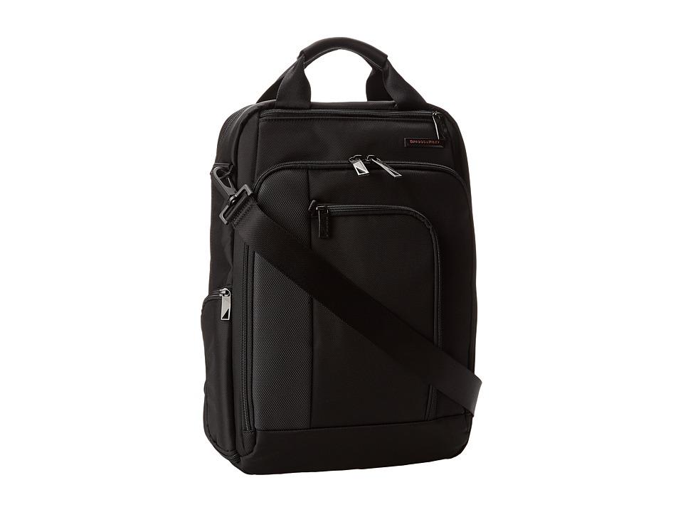 Briggs & Riley - Verb Relay Convertible Brief (Black) Briefcase Bags