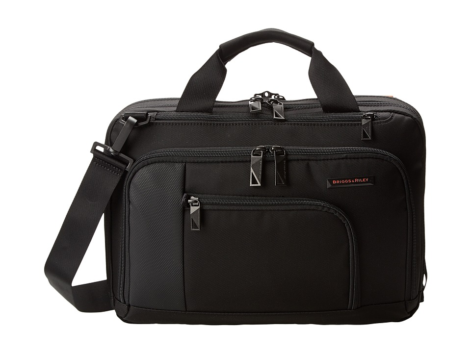 Briggs & Riley - Verb Contact Small Brief (Black) Briefcase Bags