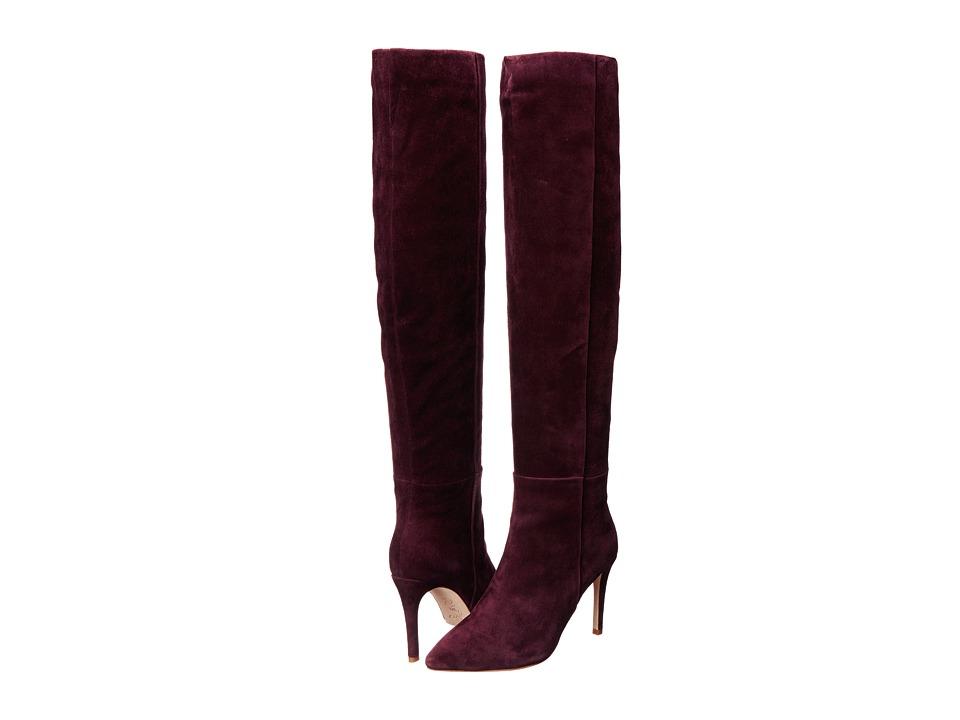 Joie Olivia (Merlot Suede) Women's Zip Boots