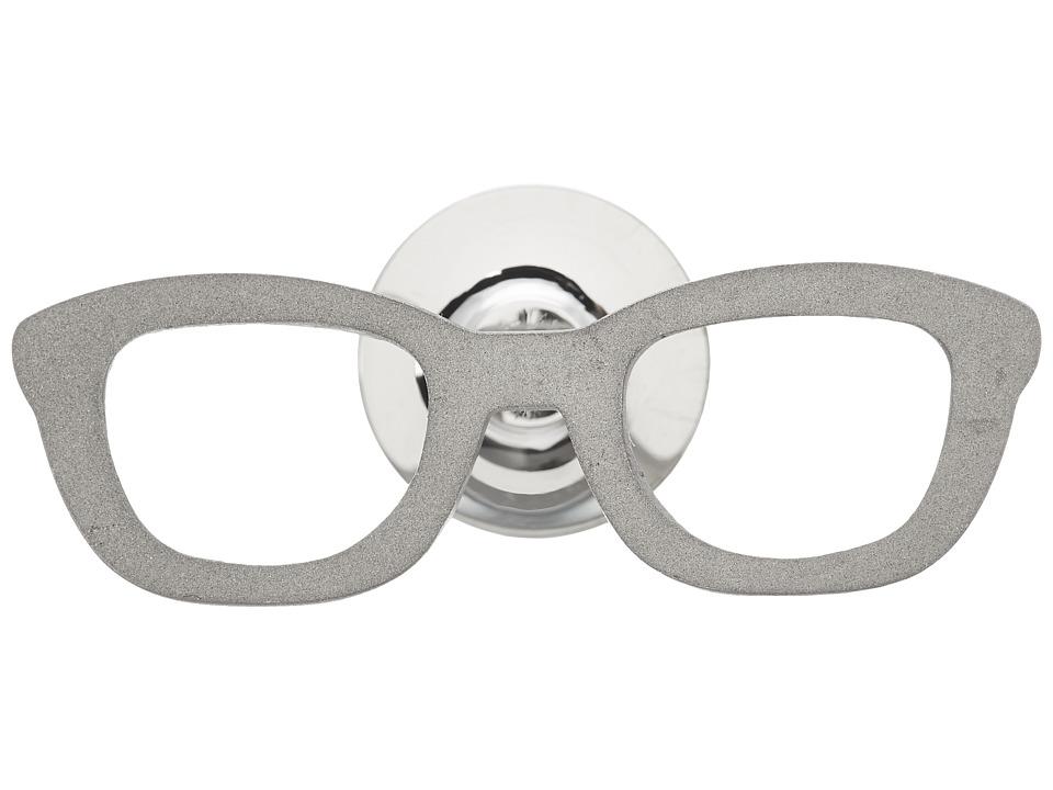 w rkin stiffs Stainless Steel Lapel Pin Glasses Silver Cuff Links