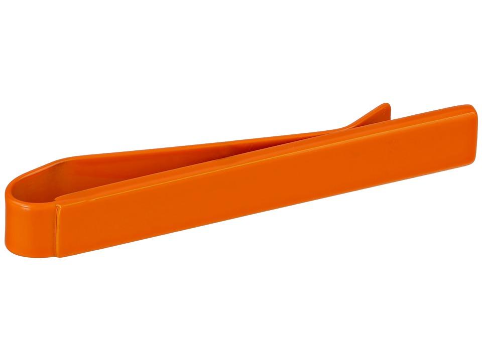 w rkin stiffs Nuts Bolts Slim Tie Bar Orange Cuff Links