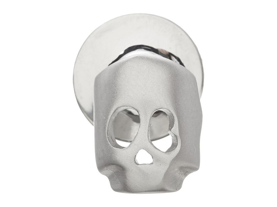 w rkin stiffs Stainless Steel Lapel Pin Skull Silver Cuff Links
