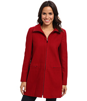 Larry Levine - Zip Front Wool Coat