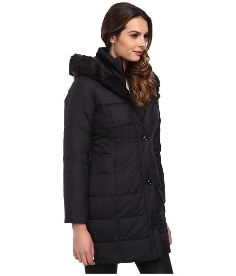 Larry Levine 3 4 Length Down Coat W Soft Faux Fur Trim