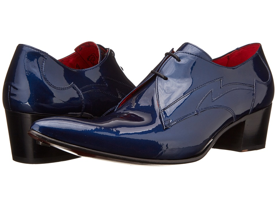 Jeffery West Gibson Blue Mens Lace up Bicycle Toe Shoes