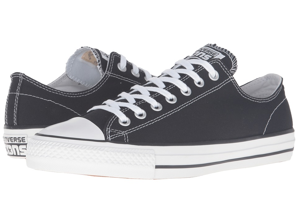 Converse Skate - CTAS Pro Ox Skate ((Canvas) Black/White) Lace up casual Shoes