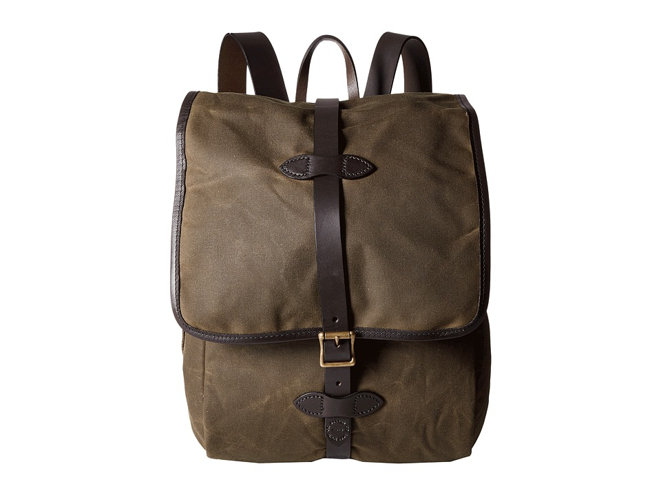 Filson - Tin Cloth Backpack (Otter Green 1) Backpack Bags