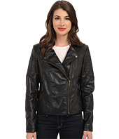TWO by Vince Camuto - Pleather Moto Jacket w/ Quilted Shoulder