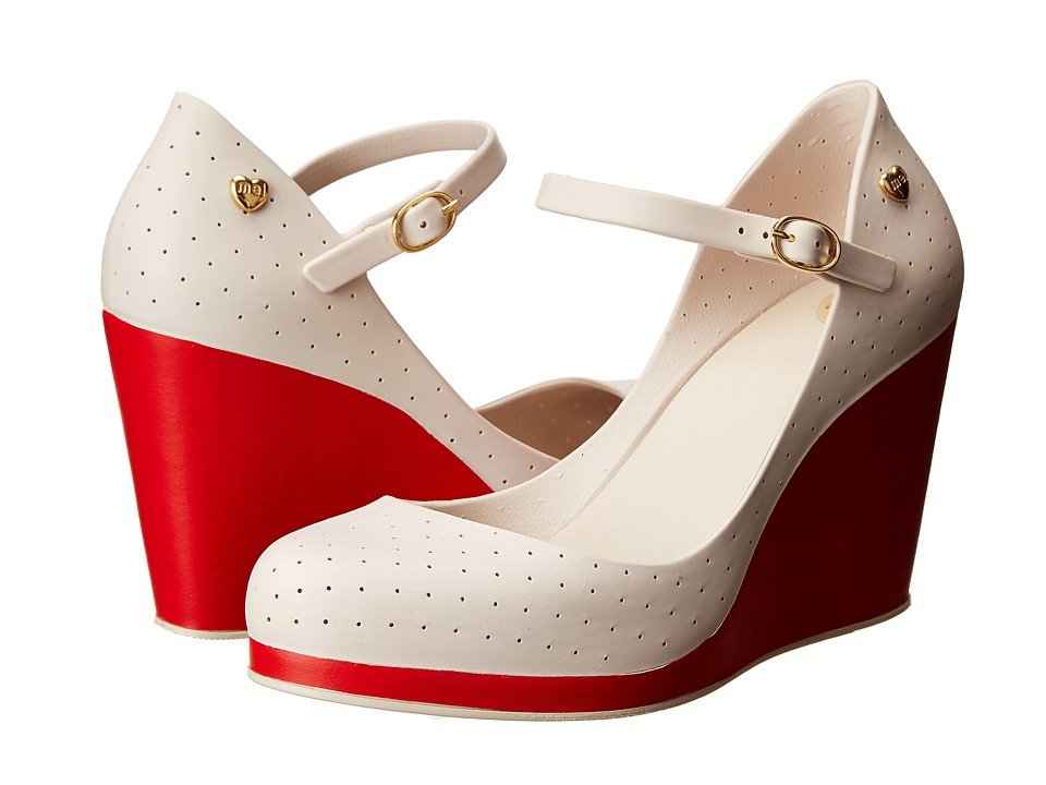 Mel by Melissa Mel Popstar II (Beige Red) Women's Wedge Shoes